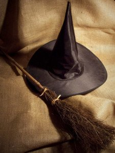 Witch Broom and Hat